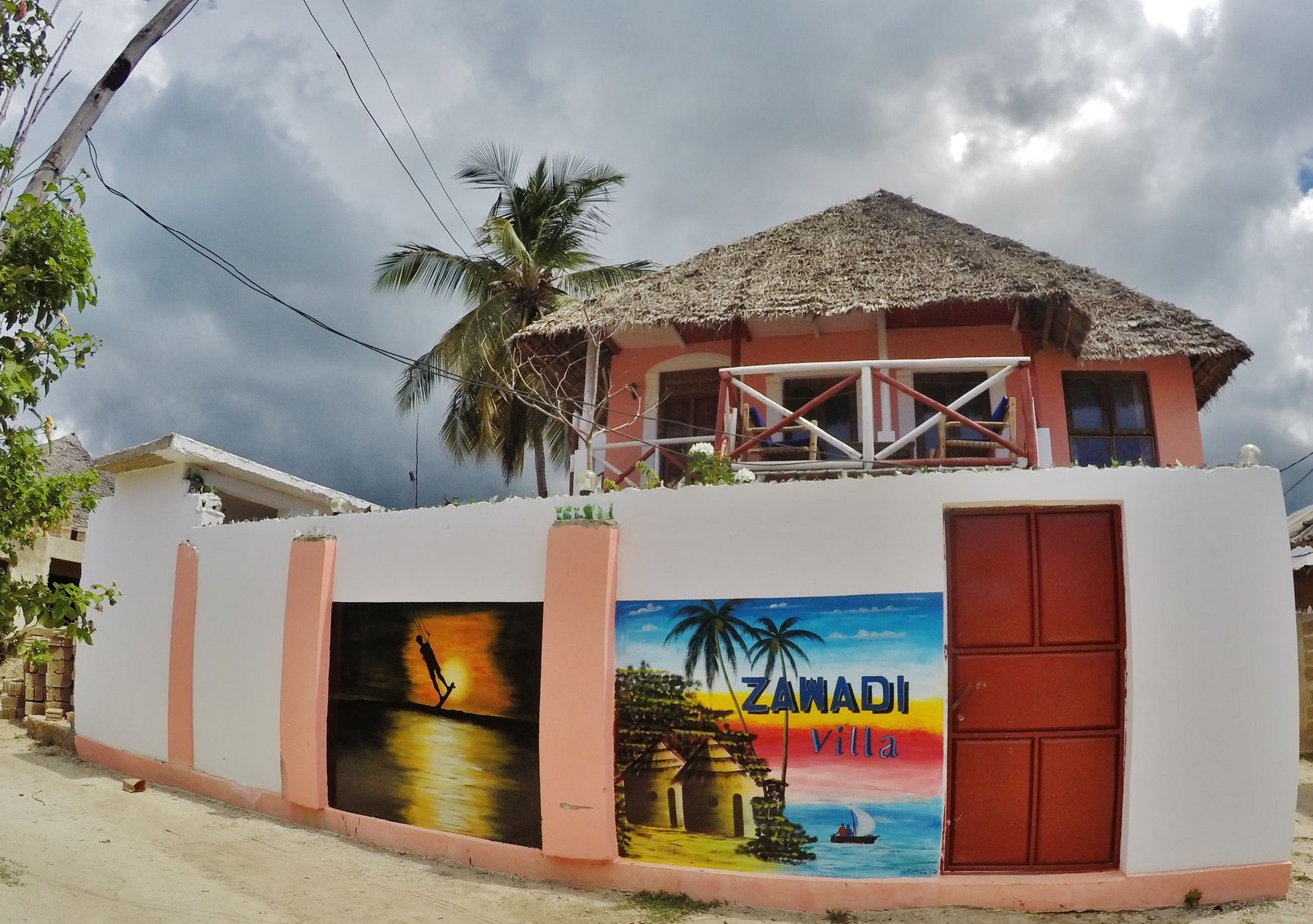 Zawadyv Villa in Paje, Zanzibar has two big spacious living rooms, balcony and a cozy garden.