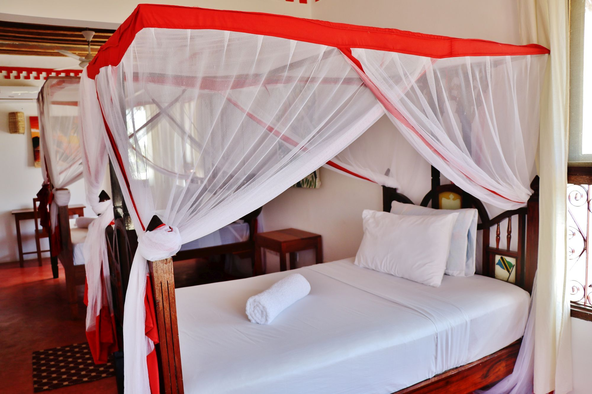 "Zawady Villa Room "" Kaite "" is triple room, with two beds, located on the second floor."